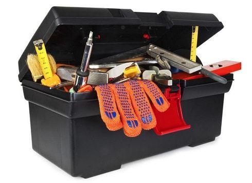 koffer met gereedschap